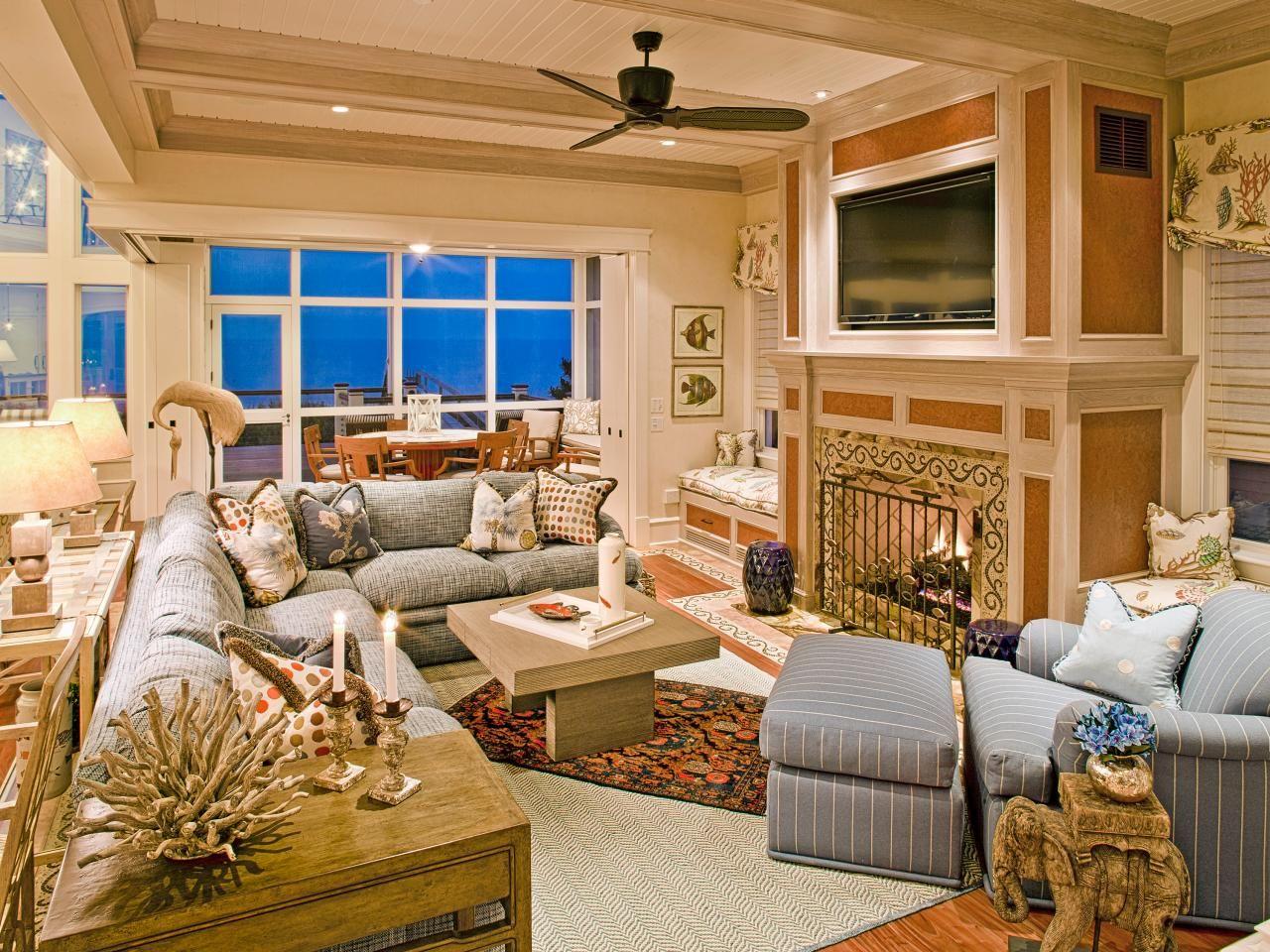 Hgtv Design Ideas Living Room Coastal Living Room Ideas  Window Seat Cushions Coastal And