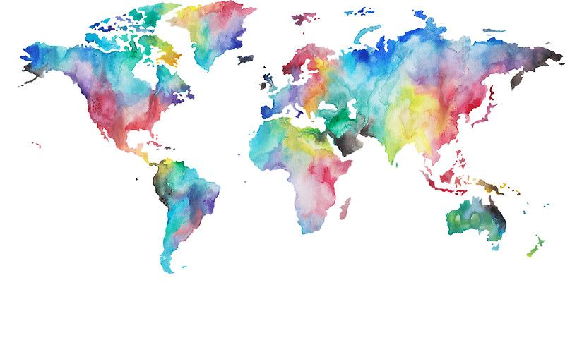 World Sticker World Map Wallpaper World Map Canvas
