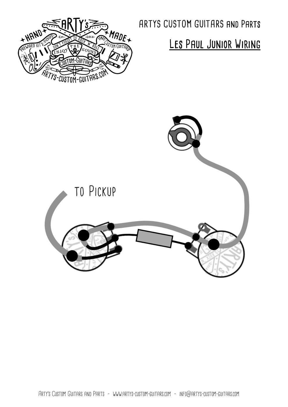 arty s custom guitars wiring diagram plan les paul junior assembly harness [ 990 x 1400 Pixel ]