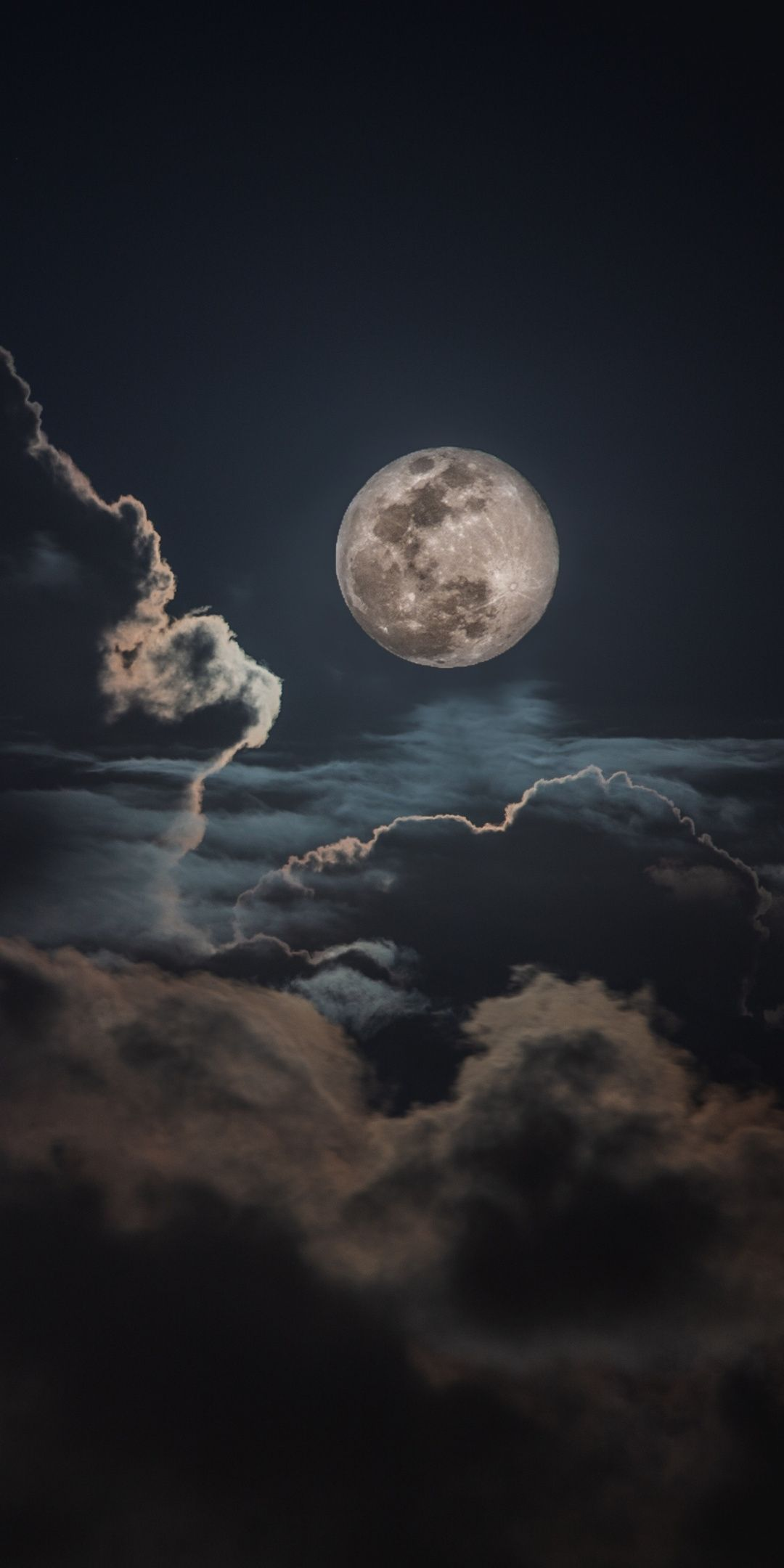 Beautiful Sky Wallpaper Moon Clouds Darkness Sky