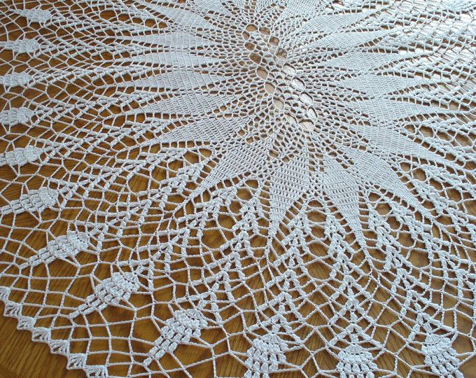 Handmade White Round Crochet Doily: Foam Flower | Patrón de ...