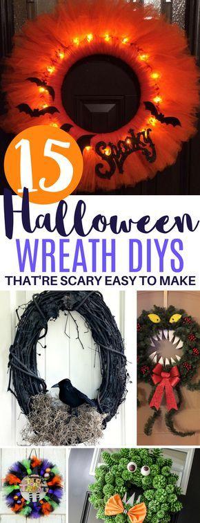 15 Adorable Halloween Wreath DIY Ideas That\u0027re Beyond Easy wreaths - halloween diy ideas
