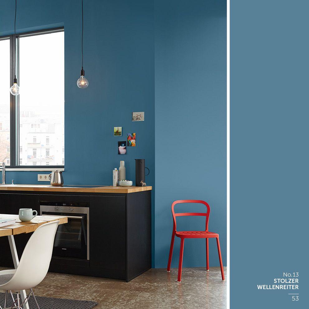 Alpina Feine Farben Farbenfuhrer Info Broschure Feine Farben Schoner Wohnen Wandfarbe Kuche Blau