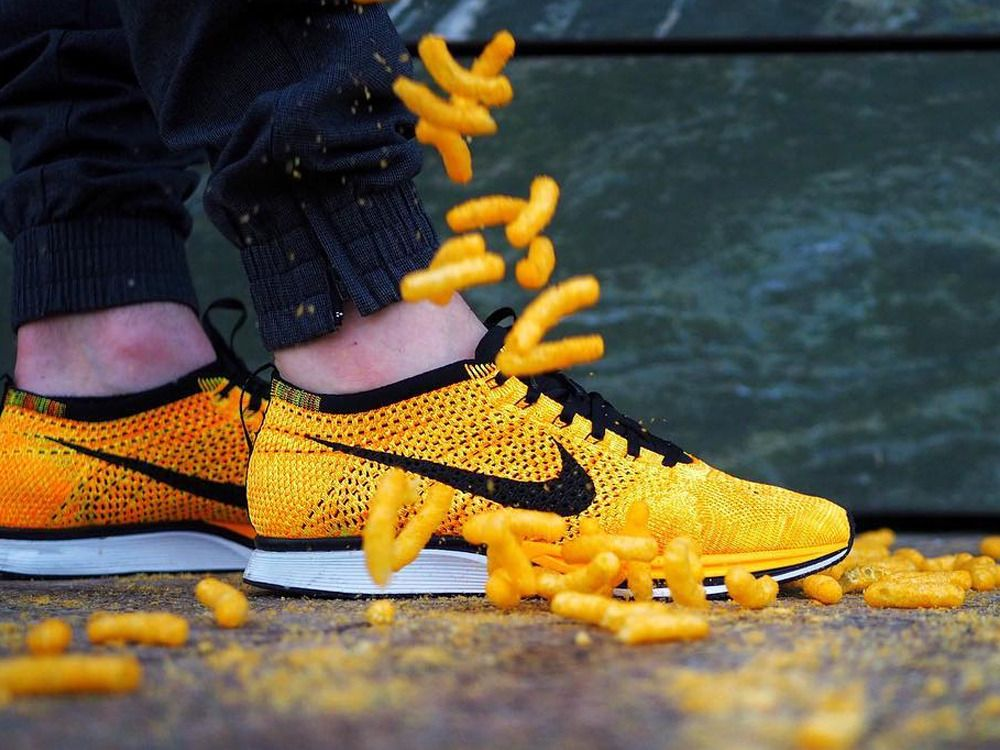 014ca35d566 Nike Flyknit Racer Cheetos - 2013 (by nowciax)