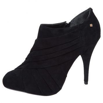 Ankle Boot Drapeado Preta - Dafiti