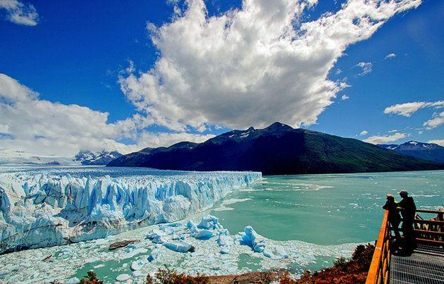 Este es Perito Moreno Glacier en Argentina. Se puede ver los glaciares.