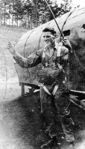 Pvt W.H. Tucker, during training at Cp. Toccoa, Georgia, Sep 42 - Tucker joined the Army 15 Aug 42, at 18 and volunteered for Parachute Infantry . After training, he was assigned to F Co / 506th Prcht Inf Regt and later transferred to French Morocco in April/May 42, as a member of unassigned parachute troops to 5th US Army Headquarters - he finally ended up being attached to the 82d Abn Div, after its Sicily combat jump, and joined I Co / 505th Prcht Inf Regt for the rest of WWII ...