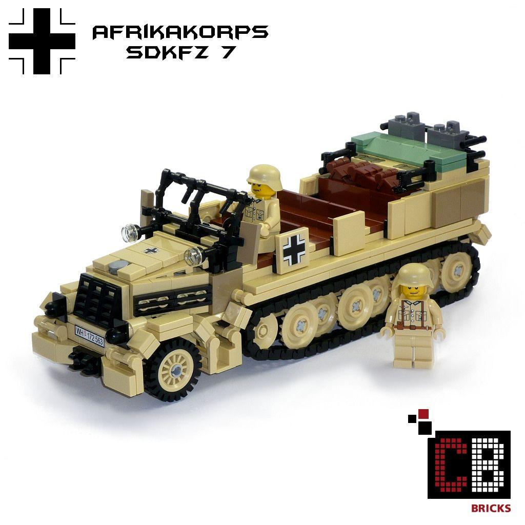LEGO Custom WW2 SdKfz 7 Afrikakorps CB1