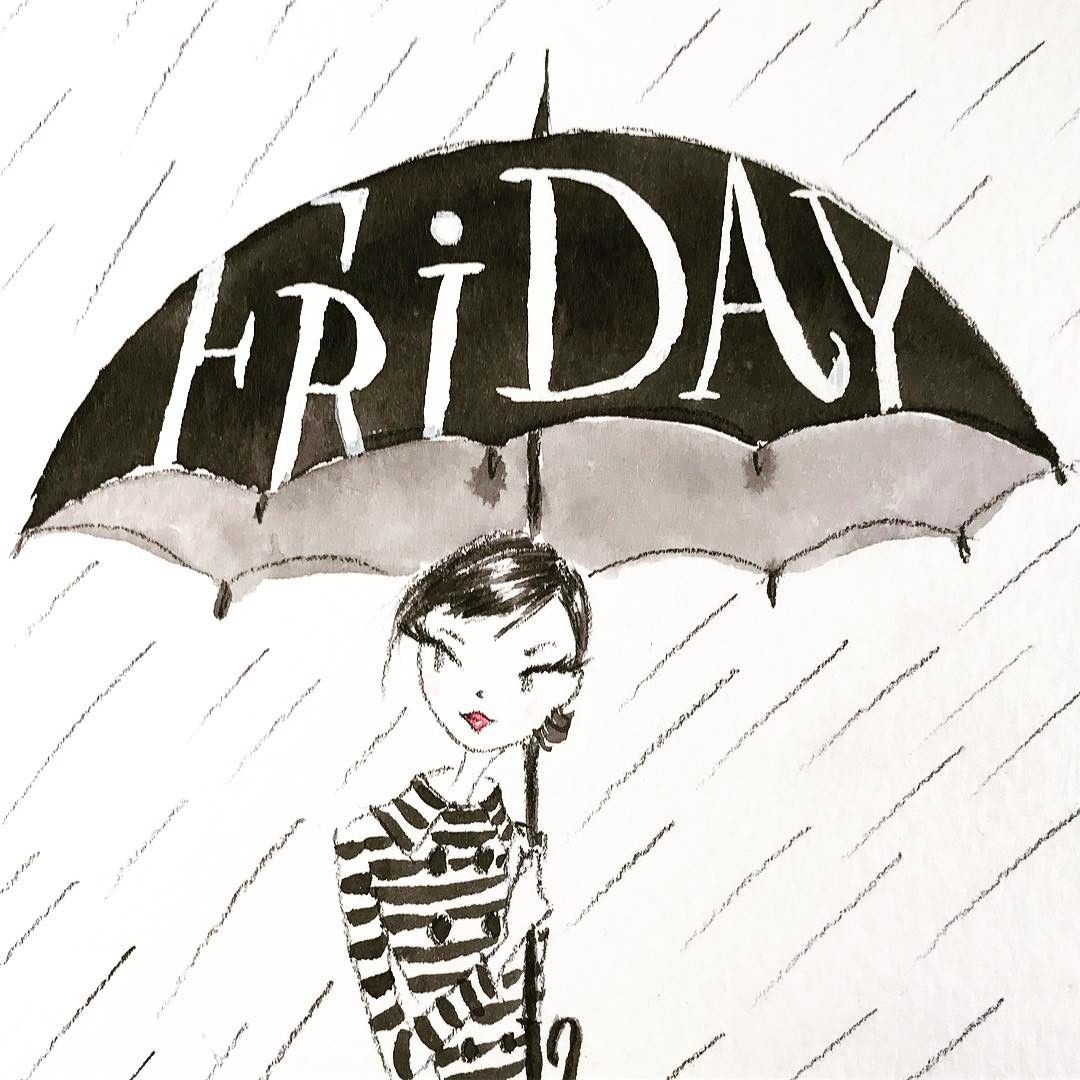 Happy Rainy Friday Hoping Tomorrow Is Happy Saturday Sketch
