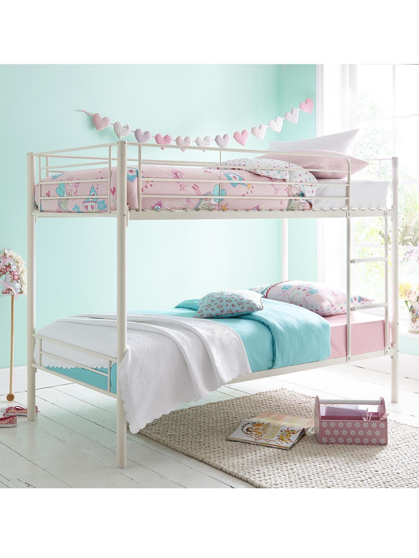 Domino Metal Bunk Bed Frame With Mattress Options Furniture Bunk