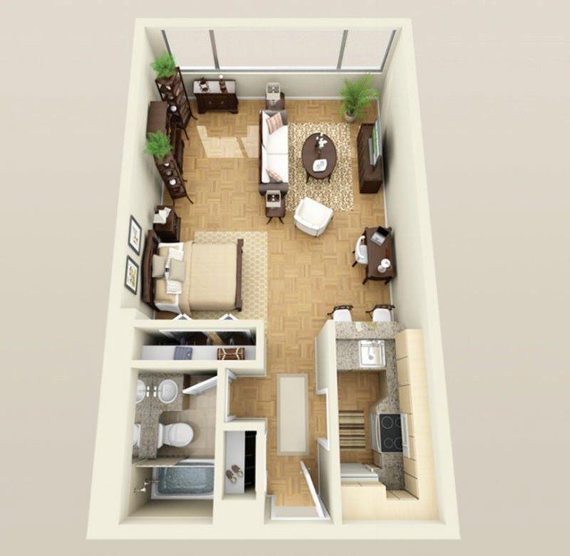 Apartamento Tipo Estudio Planos