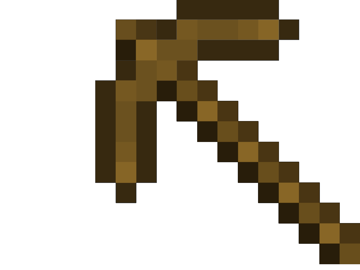 How To Build A Wooden Pickaxe In Minecraft