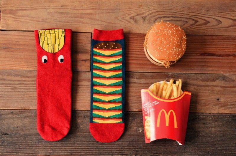 Burger & Fries Socks | Clothing & Fashion Accessories Worldwide