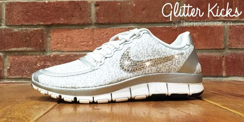 Nike Free Run 5.0 V4 PT By Glitter Kicks Hand Customized With ... 4316f765cf