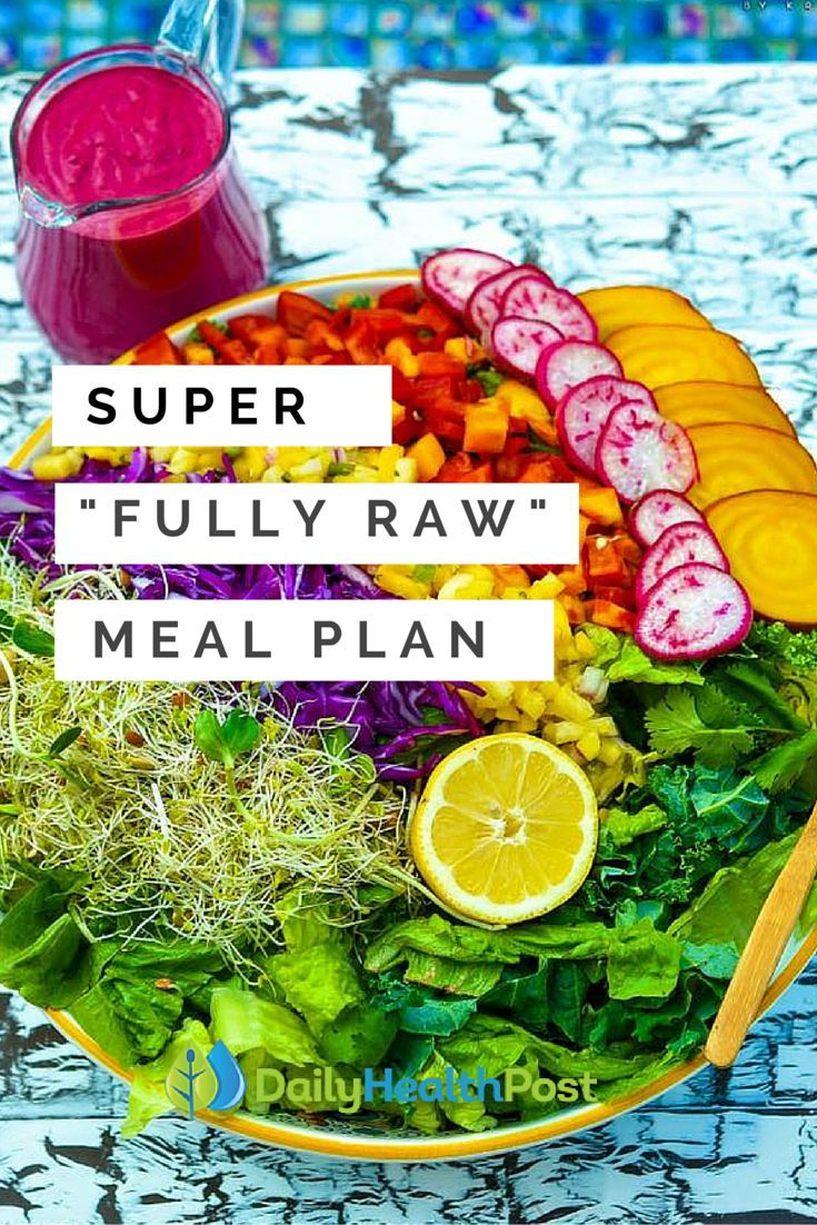 The raw food diet fullyraw meal plan daily health post cool the raw food diet fullyraw meal plan daily health post forumfinder Choice Image