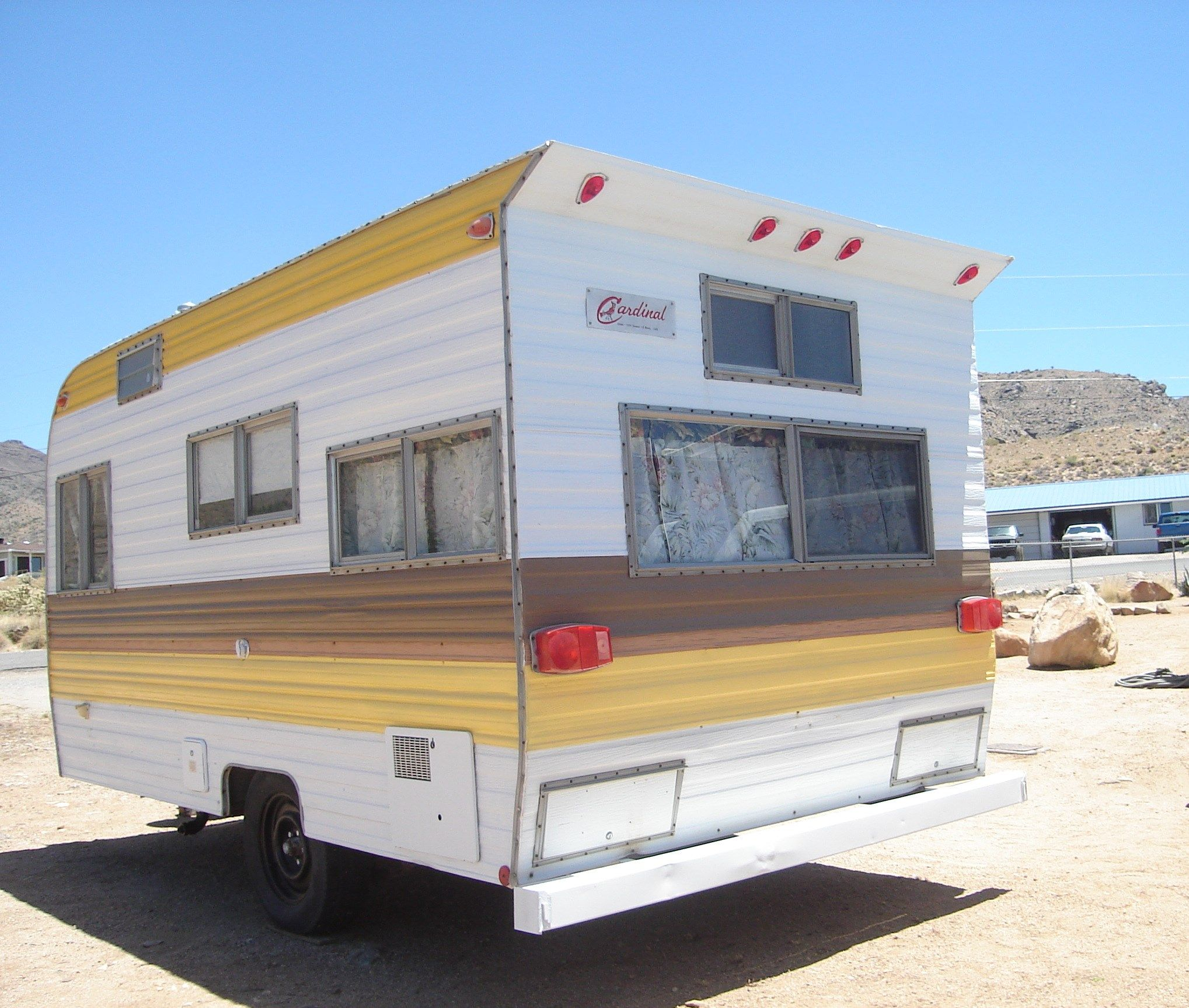 1975 Cardinal Travel Trailerthe After Pic Of The Trailer Cheryl
