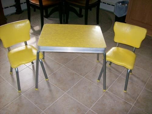 Vintage Rare Deco 1950 S Child S Formica Top Table Top Kitchen Table Toy Kitchen Set Retro Kitchen