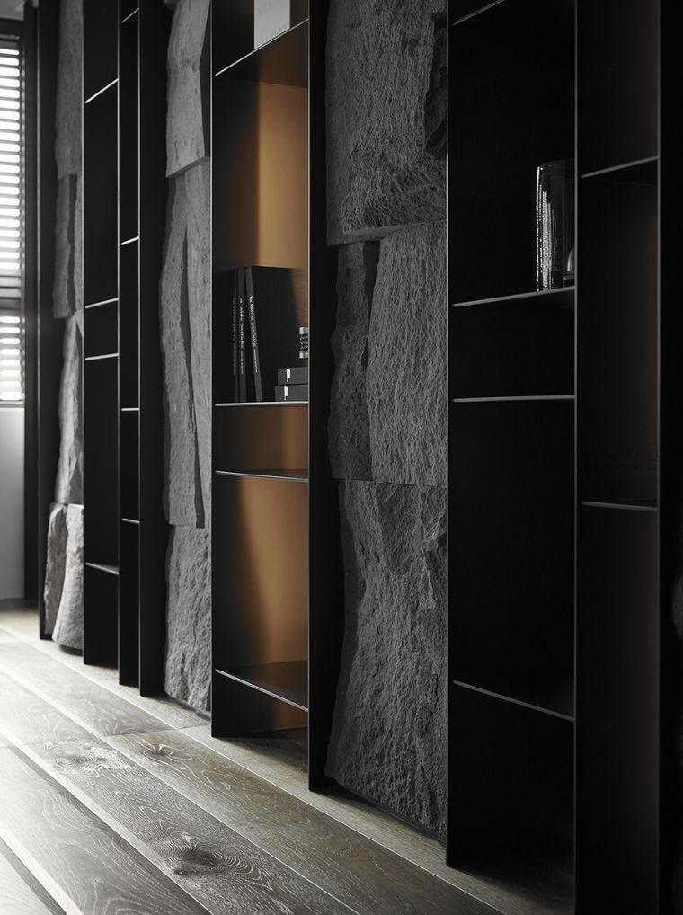 d co mur effet pierre solutions tendances et id es pour l 39 int rieur photos et. Black Bedroom Furniture Sets. Home Design Ideas