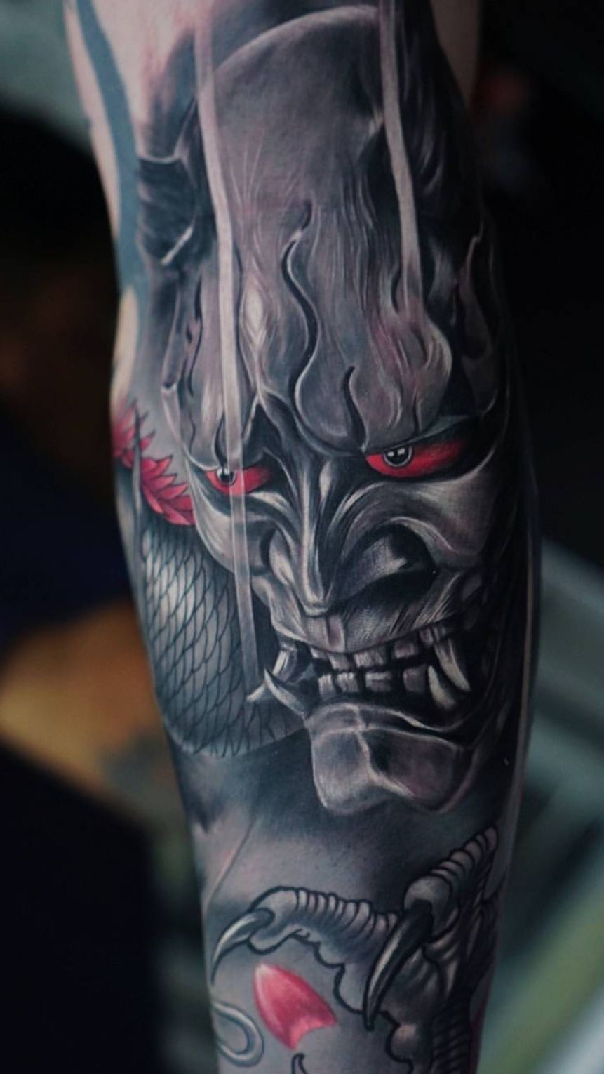 Oni Mask Tattoo: кДтё☆ρσℓє (con Imágenes)