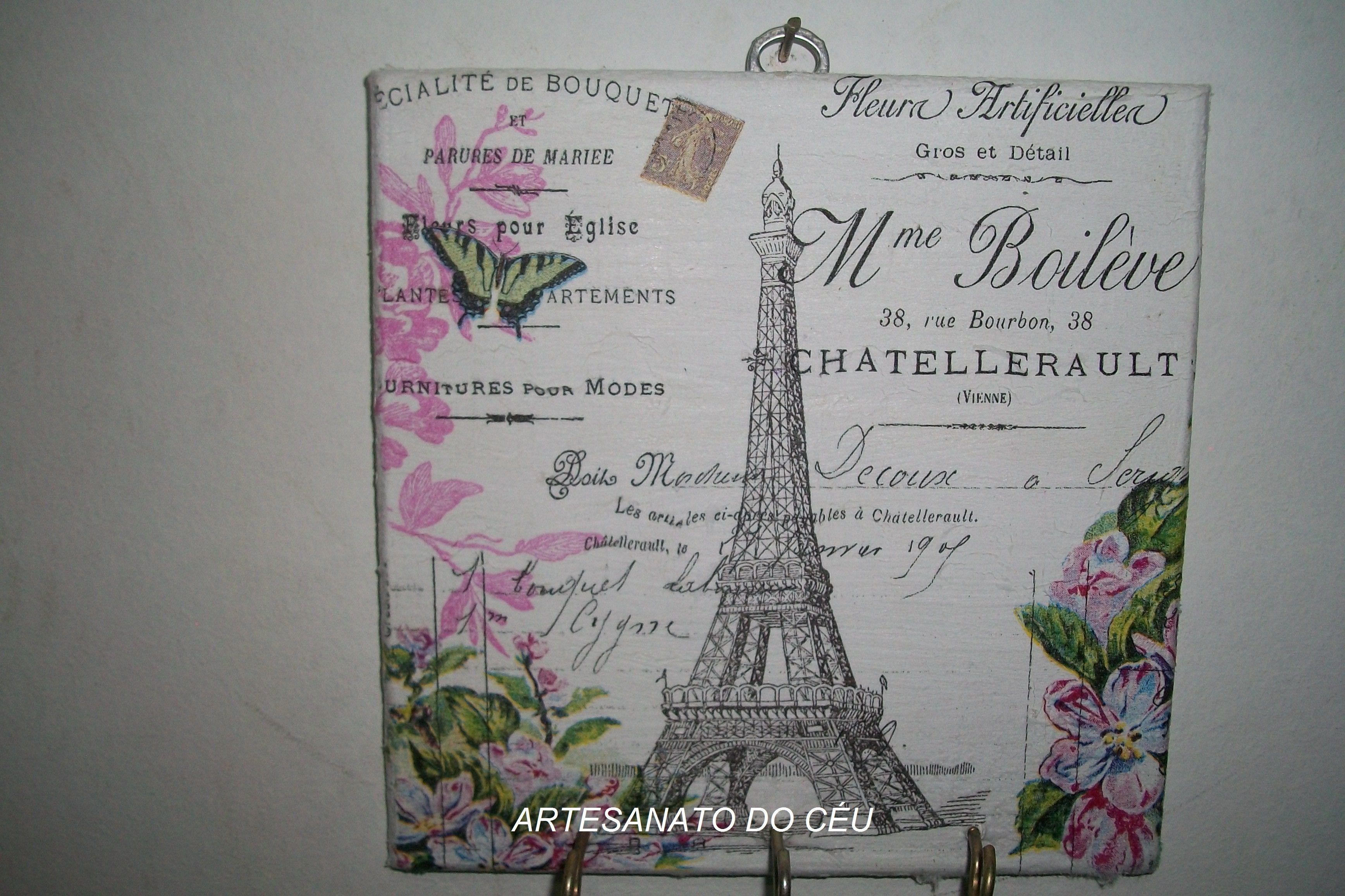 Placa Torre Eifell