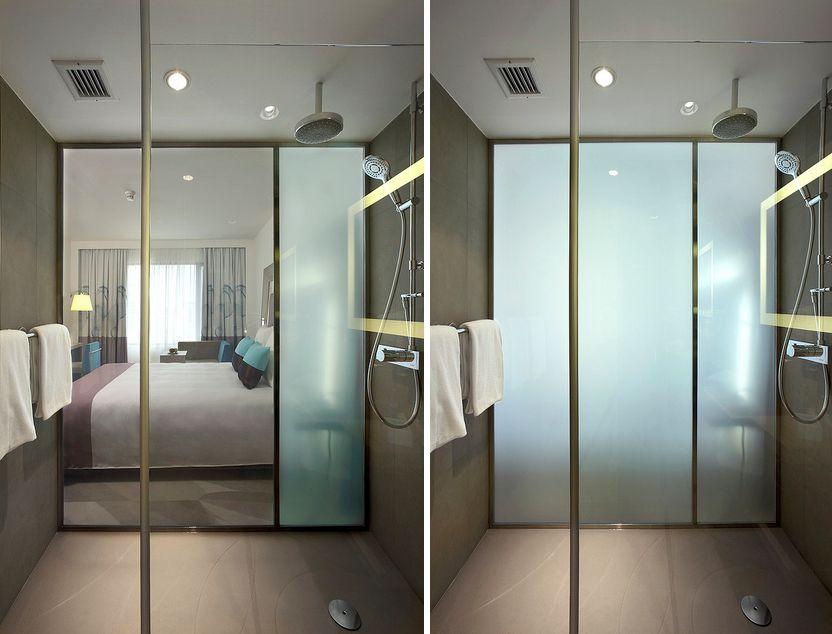 Es gibt auch schaltbare Folie, wir können unsere Glastür also - glas mobel ideen fur ihr modernes interieur von vitrealspecchi