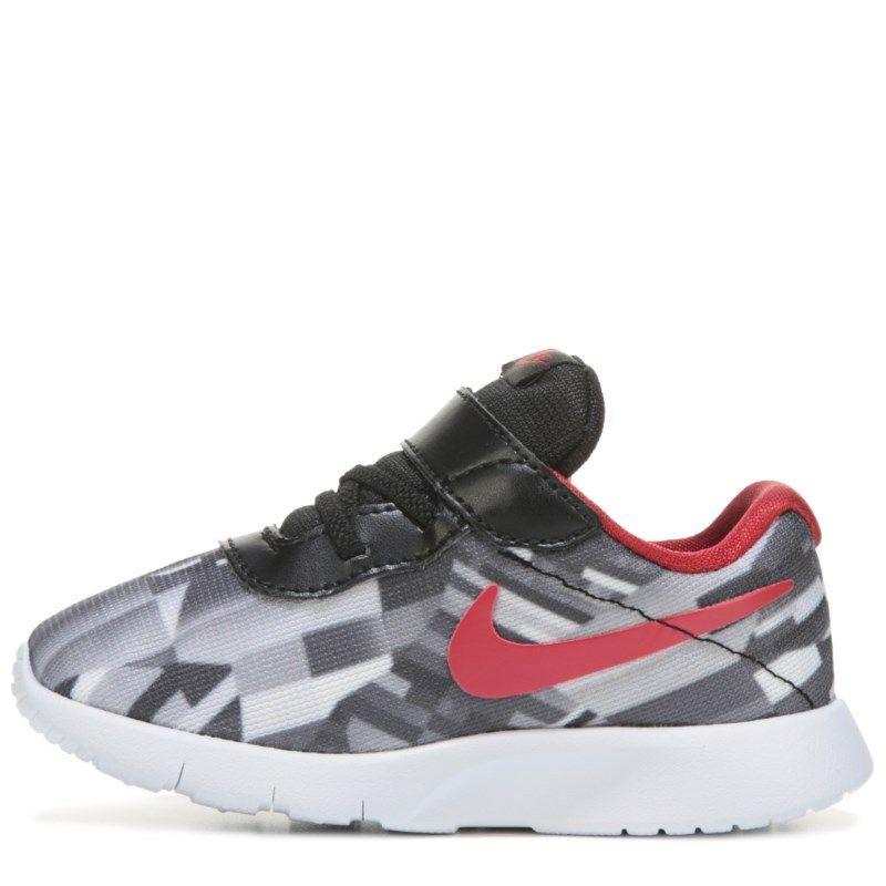 Nike Kids' Tanjun Running Shoe Toddler Shoes (Black/White/Red)