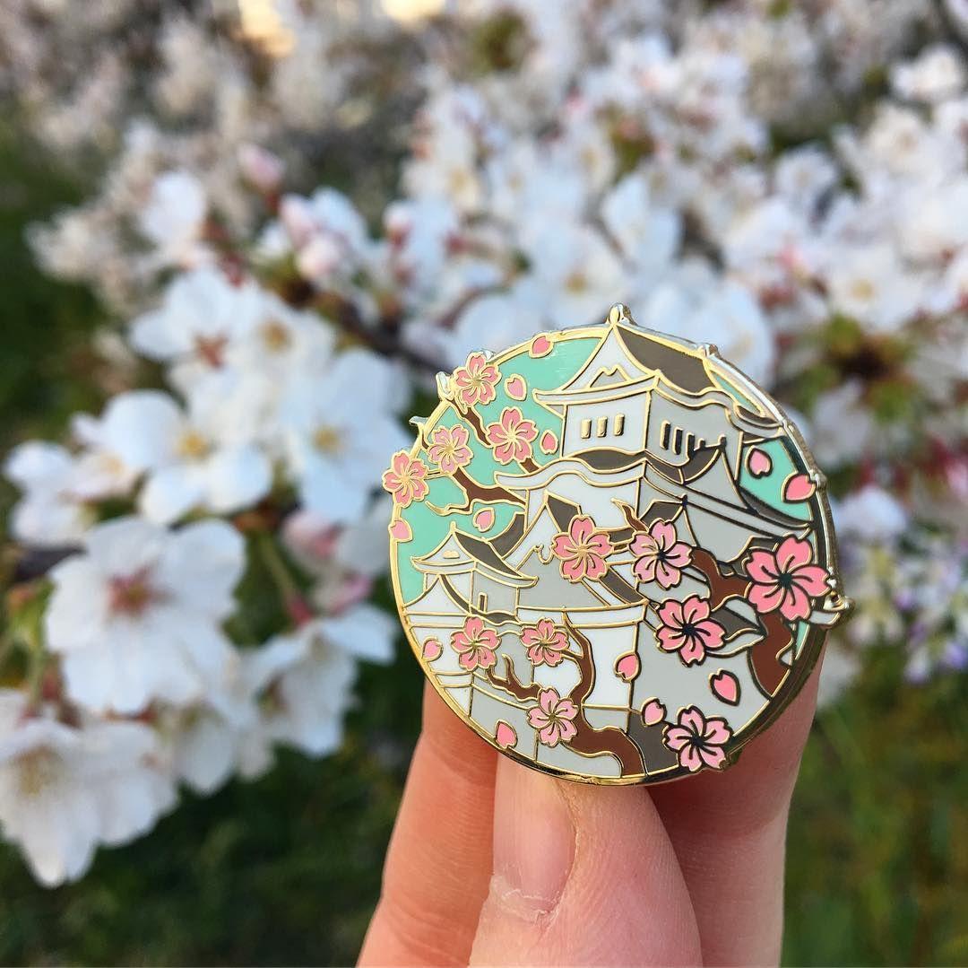 Instagram Story By Erin Nakagiri Rinrinpins Storgram Enamel Pins Sakura Himeji