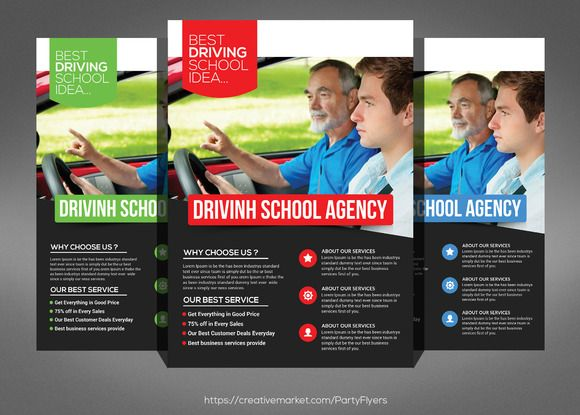 Driving School Flyer Psd Template by @Graphicsauthor Templates - Gym Brochure Templates