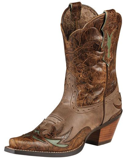 Ariat Women's Dahlia Boot - Dainty Brown/Cognac Floral another possible  short cut