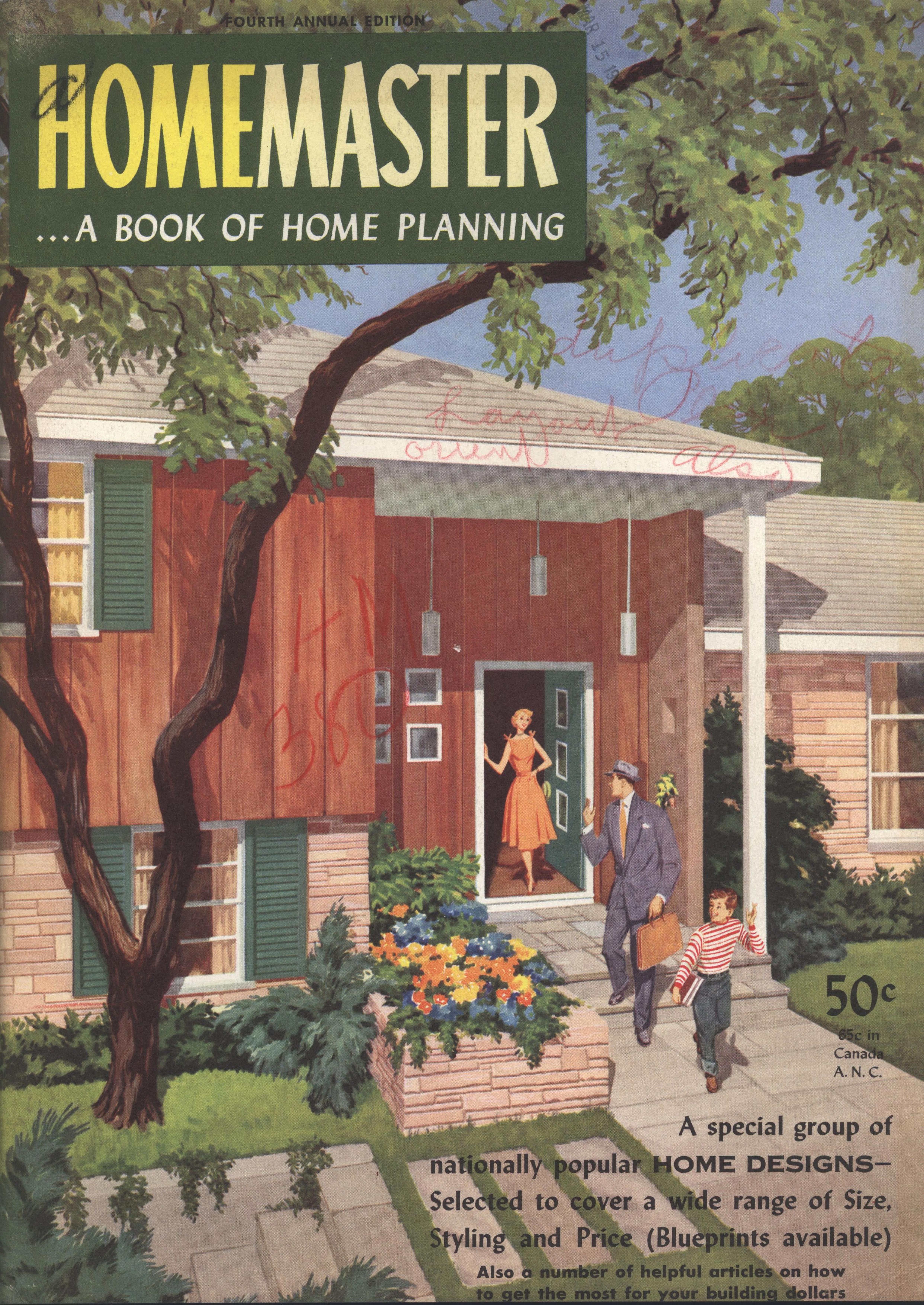 Homemaster A Book Of Home Planning 4th Ed Homemaster Publications Inc Free Dow In 2020 House Plans With Pictures Vintage House Plans House And Home Magazine