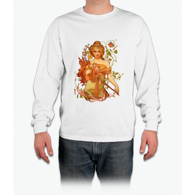 Mucha Floral Long Sleeve T-Shirt