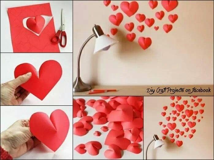 Stilig montering av hjerter. Kunne hatt dette på soverommet;-)