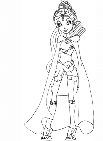 Ever After High Legacy Day Raven Coloring Page From Ever After High Category Select From 24848 Printable Cr Cute Coloring Pages Coloring Pages Ever After High