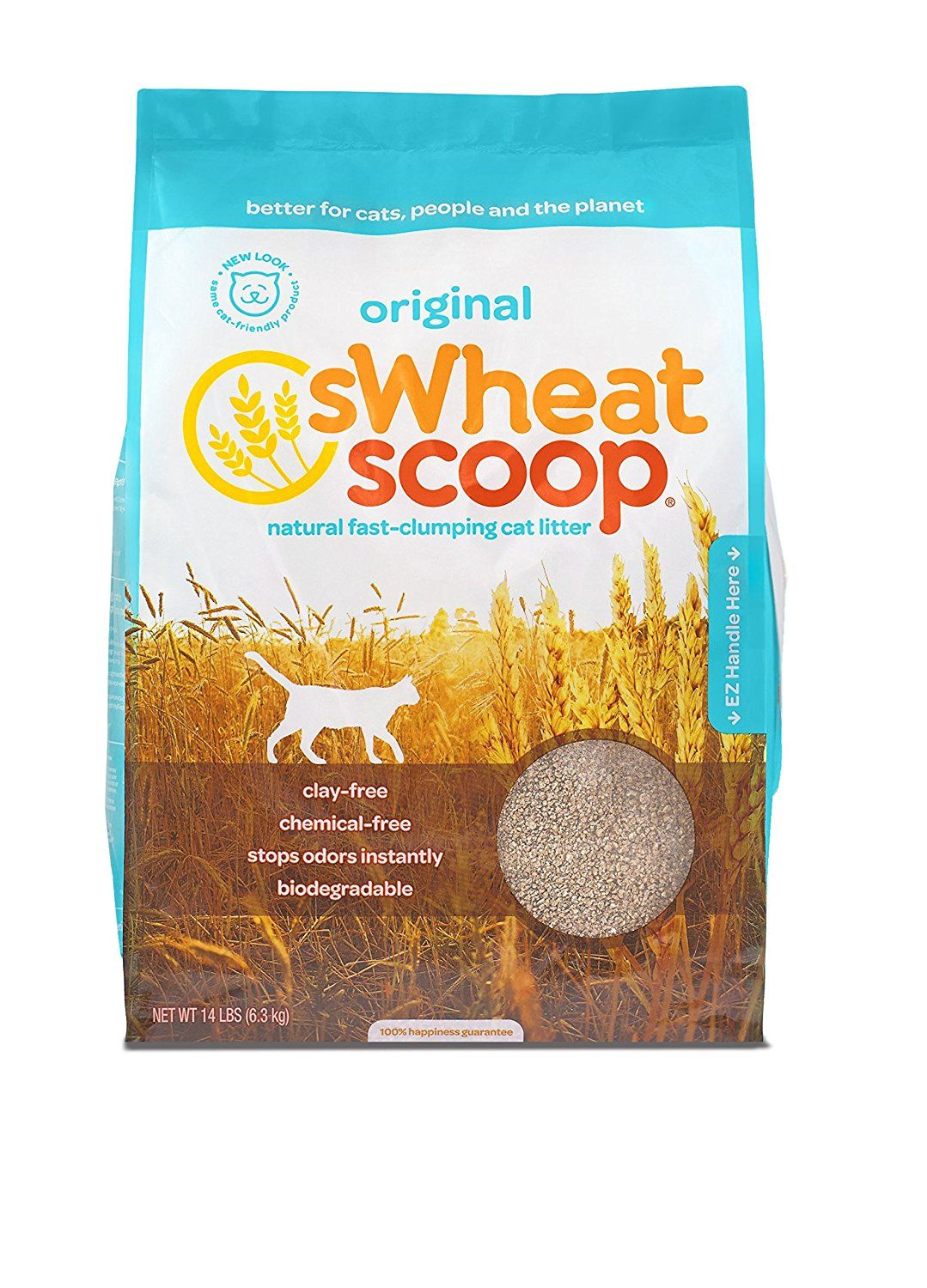 sWheat Scoop FastClumping AllNatural Cat Litter, 14lb