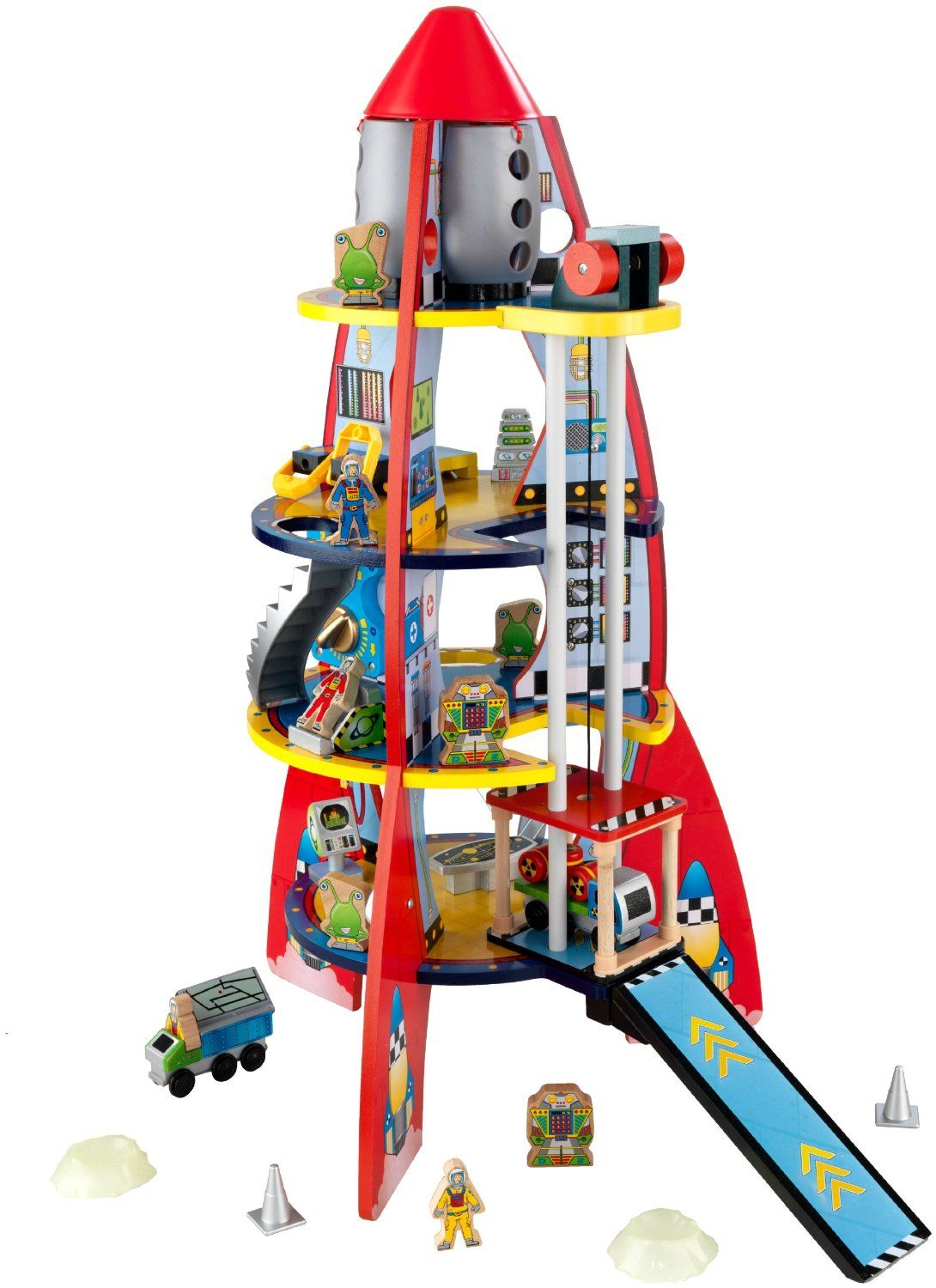 Fun Explorers Rocket Ship Wooden Toys For Toddlers Cool