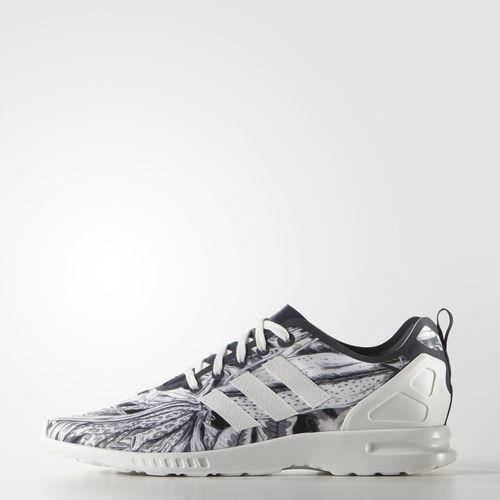best service ac923 4d165 Zebra Print ZX Flux Smooth Shoes - Blue