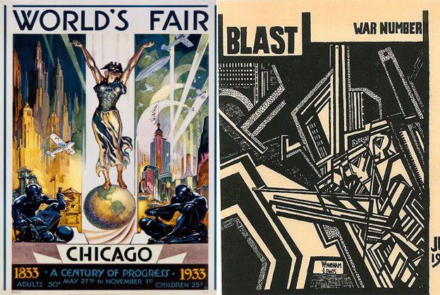 Art Deco In The 1933 Worldu0027s Fair Poster, And Vorticism In Wyndham Lewisu0027  BLAST