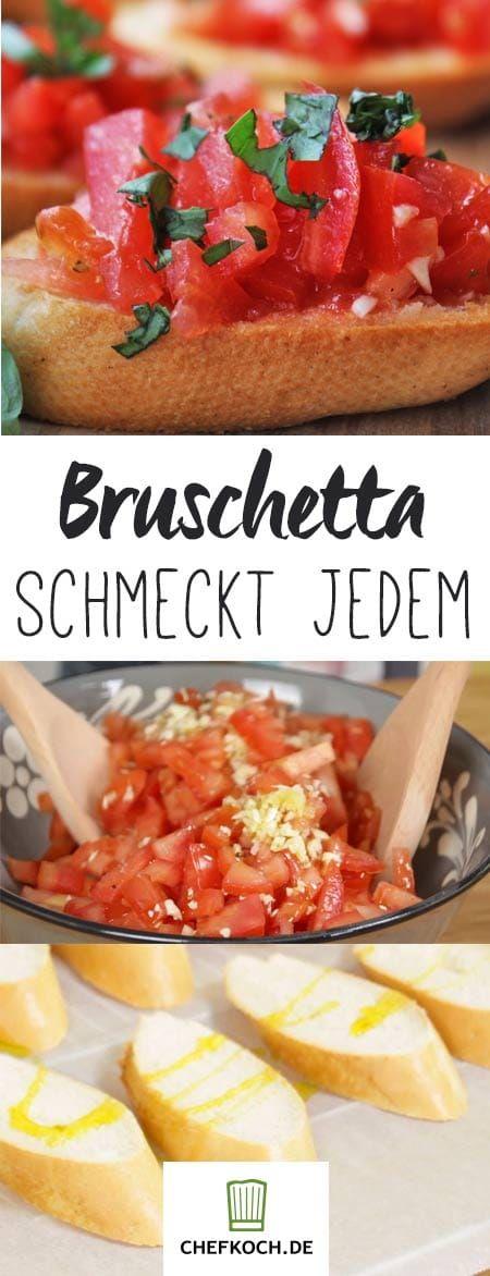 Bruschetta mit Tomaten und Knoblauch. Mit Video von Mrs Flury. #buffet
