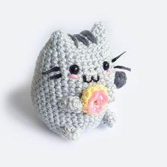 Pusheen el gato Amigurumi por Toffoletta en Etsy                                                                                                                                                                                 Más