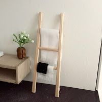 How to make a miniature towel ladder