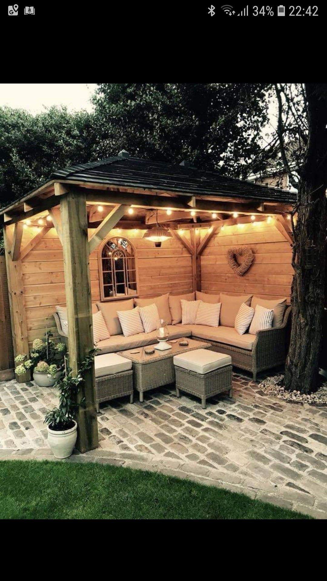 New home garden ideas  Pin by DuAnn Moldenhauer on Back Porch Living  Pinterest  Backyard