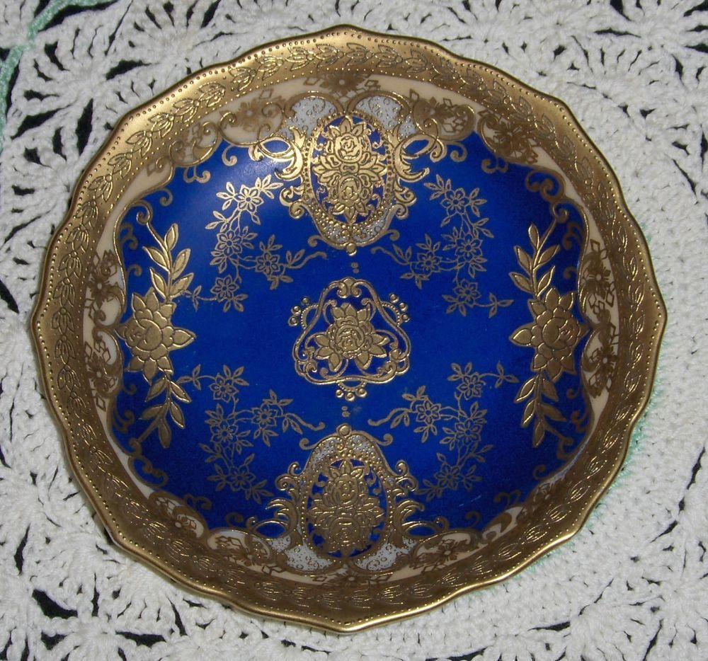 Vtg meito porzellan royal blue dish handmalerei hm aw port gold vtg meito porzellan royal blue dish handmalerei hm aw port gold accented plate reviewsmspy