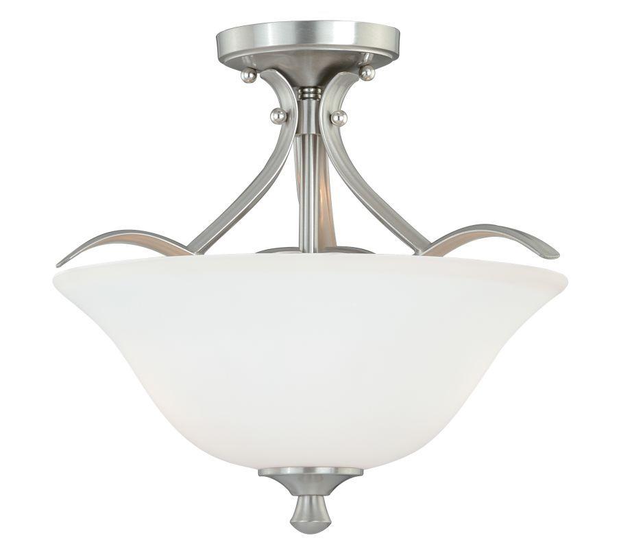 Vaxcel Lighting C0059 Cordoba 2 Light Semi-Flush Indoor Ceiling Fixture with Etc Satin Nickel Indoor Lighting Ceiling Fixtures Semi-Flush