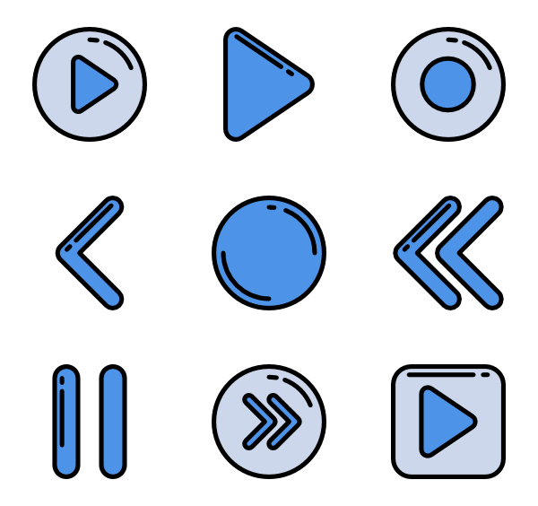 173 Icon Packs Of Music Player Icon Pack Icon Free Icon Set