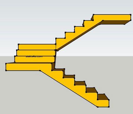 Best Left Elevation Of Double Landing U Shaped Stair Design U 400 x 300