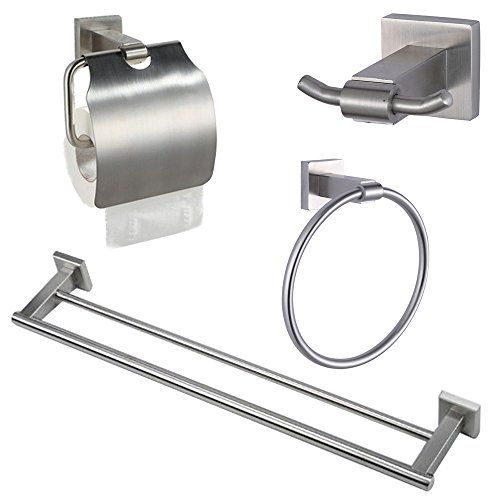 Kes La22242 Bathroom 4 Piece Set Hardware Accessories Sus304 Stainless Steel Wall Mount Brushed