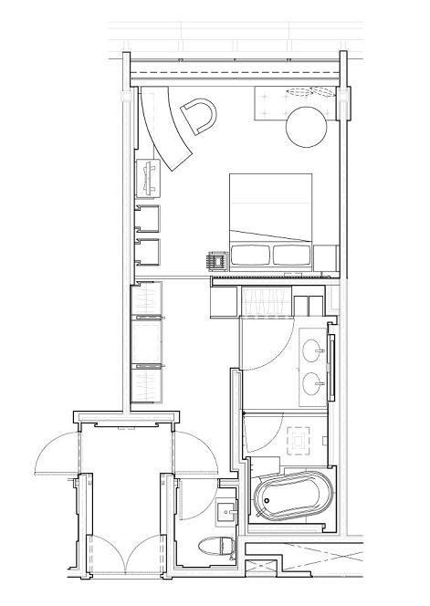 Room Design Floor Plan: Park Hyatt Shanghai Park Room