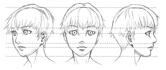como dibujar manga y anime proporciones de la cabeza y el rostro dibujamanga como dibujar. Black Bedroom Furniture Sets. Home Design Ideas