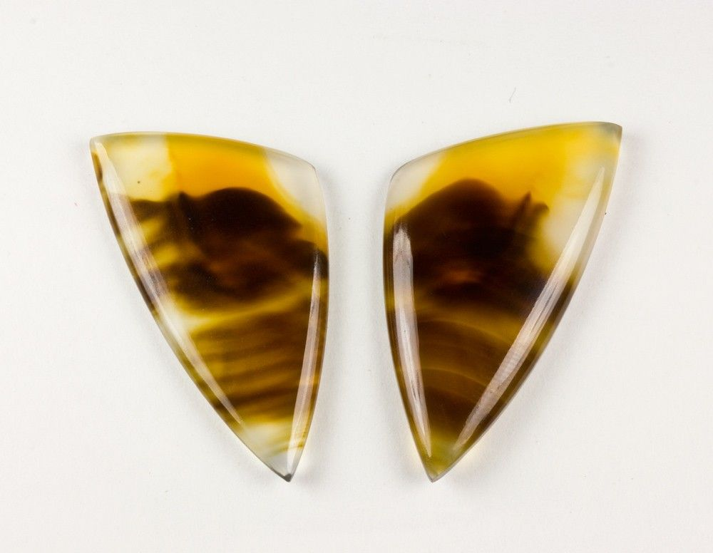 Montana Agate Cabochon Pair | Crystal Vaults