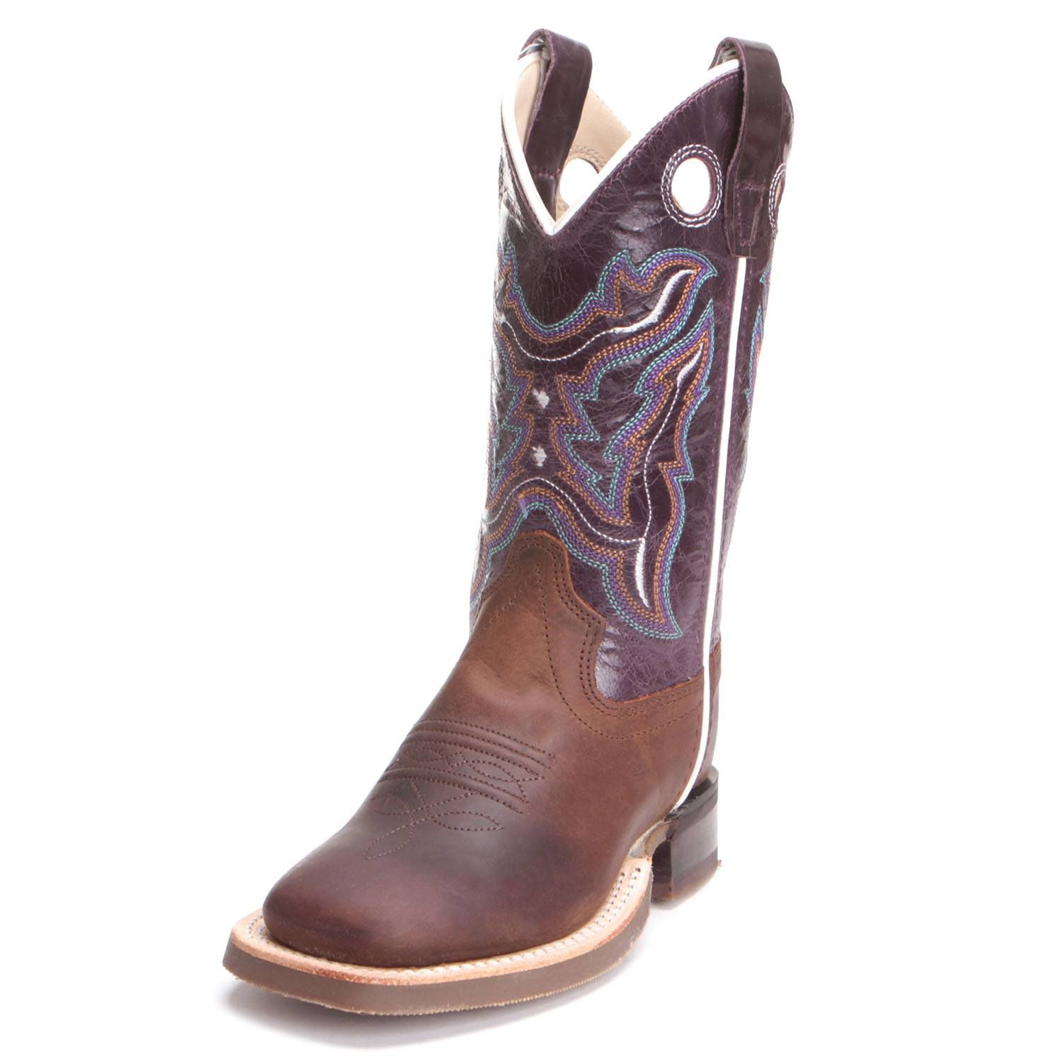 Durable Brown Old West Children's Western Cowboy Boots